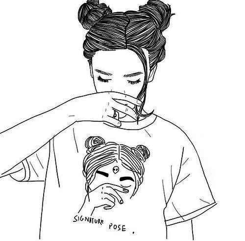 Line Drawing Tumblr Girl : Profil surrealizm teksty piosenek tłumaczenia
